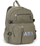 Alpha Xi Canvas Backpack Olive