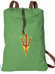 Arizona State Cotton Drawstring Bag Backpacks Cool Green