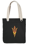 Arizona State Tote Bag RICH COTTON CANVAS Black