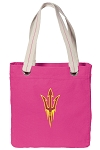Arizona State Tote Bag RICH COTTON CANVAS Pink