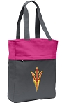 Arizona State Tote Bag Everyday Carryall Pink