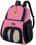 Girls Arizona State Soccer Backpack or ASU Volleyball Bag