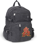 ASU Canvas Backpack Black