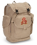 ASU LARGE Canvas Backpack Tan