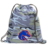 Boise State Drawstring Backpack Blue Camo