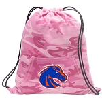 Boise State Drawstring Backpack Pink Camo