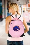 Boise State Drawstring Bag Mesh and Microfiber Pink