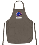 Official Boise State University Grandma Apron Tan