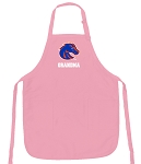 Deluxe Boise State Grandma Apron Pink - MADE in the USA!