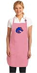 Deluxe Boise State Apron Pink - MADE in the USA!
