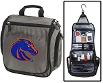 Boise State University Toiletry Bag or Shaving Kit Gray