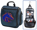 Boise State Broncos Hanging Travel Toiletry Bag or Boise State University Shaving Kit Organizer for Him Navy