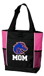 Boise State Mom Tote Bag Pink
