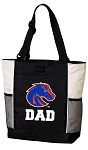 Boise State Dad Tote Bag White Accents