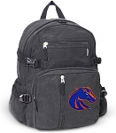 Boise State Canvas Backpack Black