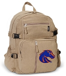Boise State Canvas Backpack Tan