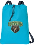 Baylor Cotton Drawstring Bag Backpacks Blue