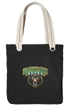 Baylor Tote Bag RICH COTTON CANVAS Black