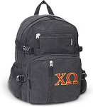 Chi O Canvas Backpack Black