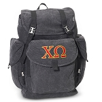 Chi O LARGE Canvas Backpack Black
