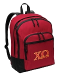 Chi O Backpack CLASSIC STYLE Red