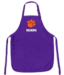 Clemson Grandpa Apron Purple - MADE in the USA!