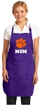 Clemson Mom Apron Purple - MADE in the USA!