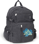 Tri Delt Canvas Backpack Black