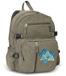 Tri Delt Canvas Backpack Olive
