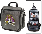 East Carolina University Toiletry Bag or Shaving Kit Gray