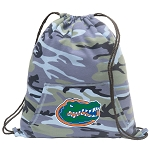University of Florida Drawstring Backpack Blue Camo