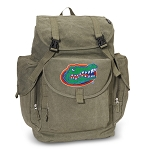 University of Florida LARGE Canvas Backpack Olive