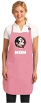 FSU Mom Apron Pink - MADE in the USA!
