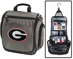 University of Georgia Toiletry Bag or Shaving Kit Gray