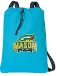 GEORGE MASON Cotton Drawstring Bag Backpacks Blue