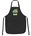 Official George Mason Dad Apron Black