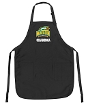 Official George Mason Grandma Apron Black