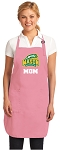 Deluxe George Mason Mom Apron Pink - MADE in the USA!