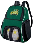 George Mason University Soccer Backpack or GMU Volleyball Bag Green