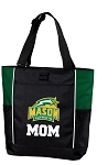 George Mason Mom Tote Bag Hunter Green