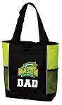 George Mason Dad Tote Bag COOL LIME
