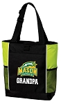 George Mason Grandpa Tote Bag COOL LIME