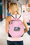Georgia Southern Drawstring Bag Mesh and Microfiber Pink