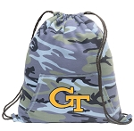 Georgia Tech Drawstring Backpack Blue Camo