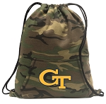 Georgia Tech Drawstring Backpack Green Camo