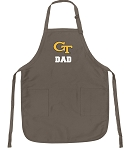 Georgia Tech Dad Deluxe Apron Khaki