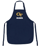 Georgia Tech Grandpa Apron Navy
