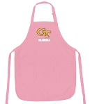 Georgia Tech Grandma Apron Pink - MADE in the USA!