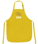 Georgia Tech Dad Apron Yellow - MADE in the USA!