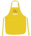 Georgia Tech Grandpa Apron Yellow - MADE in the USA!